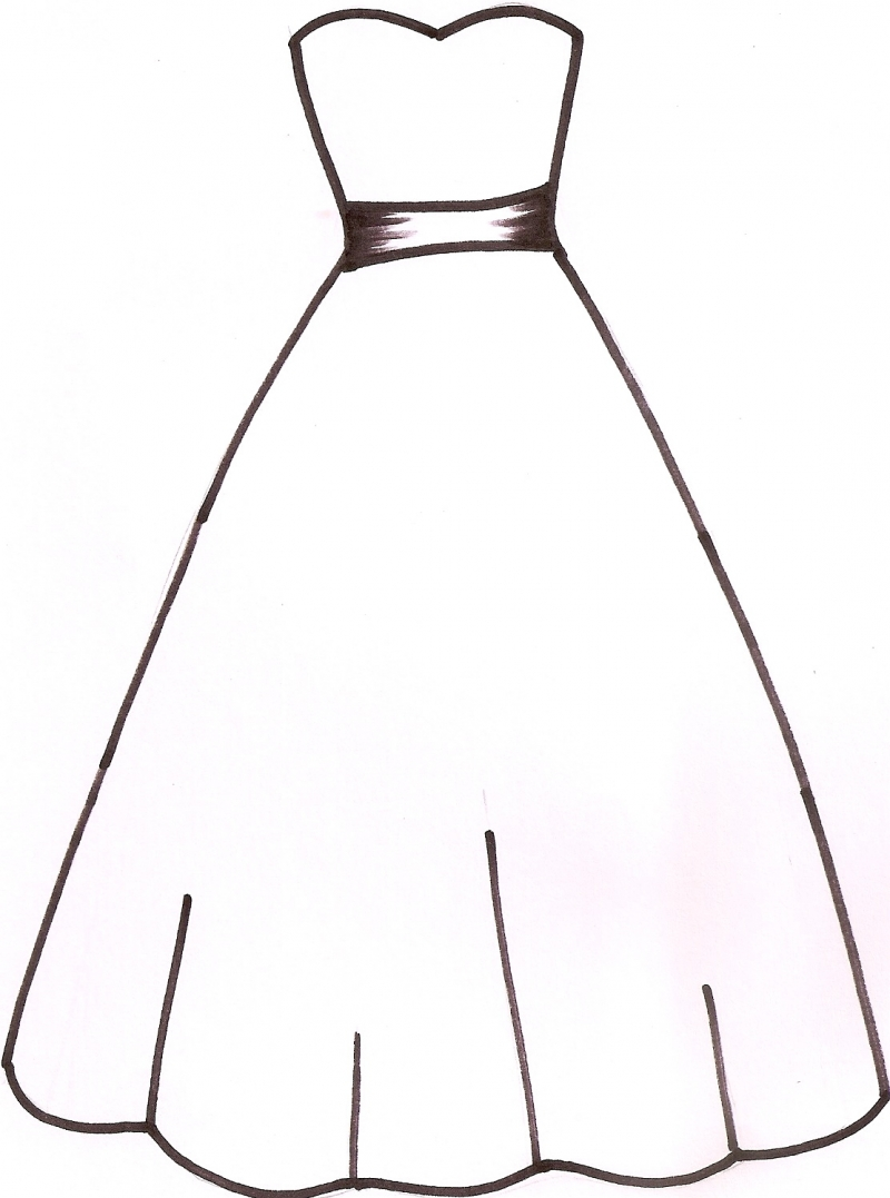 Wedding Dress Outline.