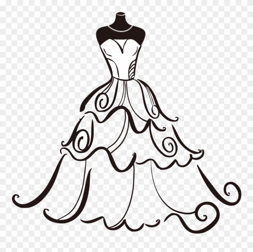 Banner Free Dress Bride Clip Art.