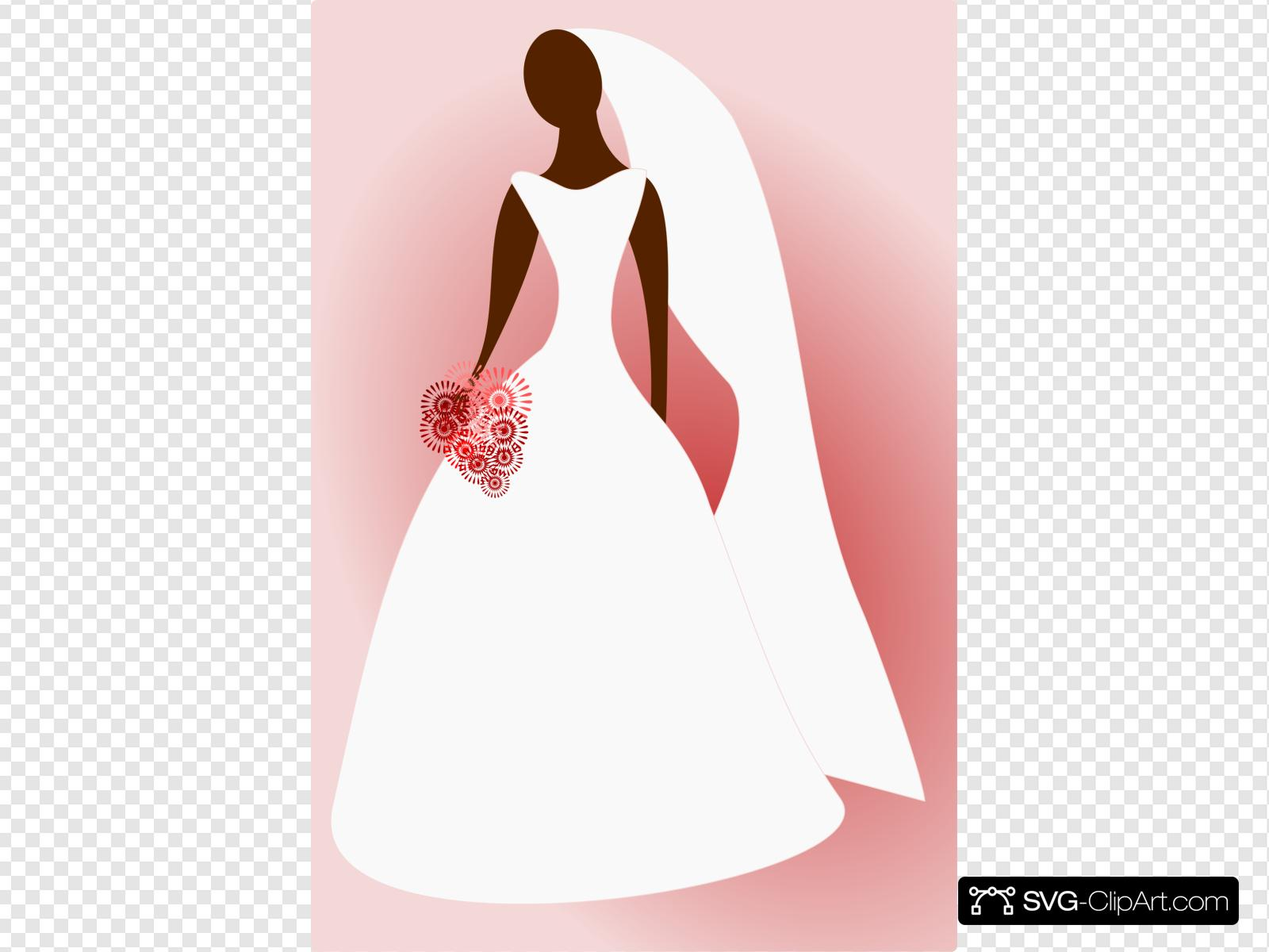 Bride In Wedding Dress Clip art, Icon and SVG.