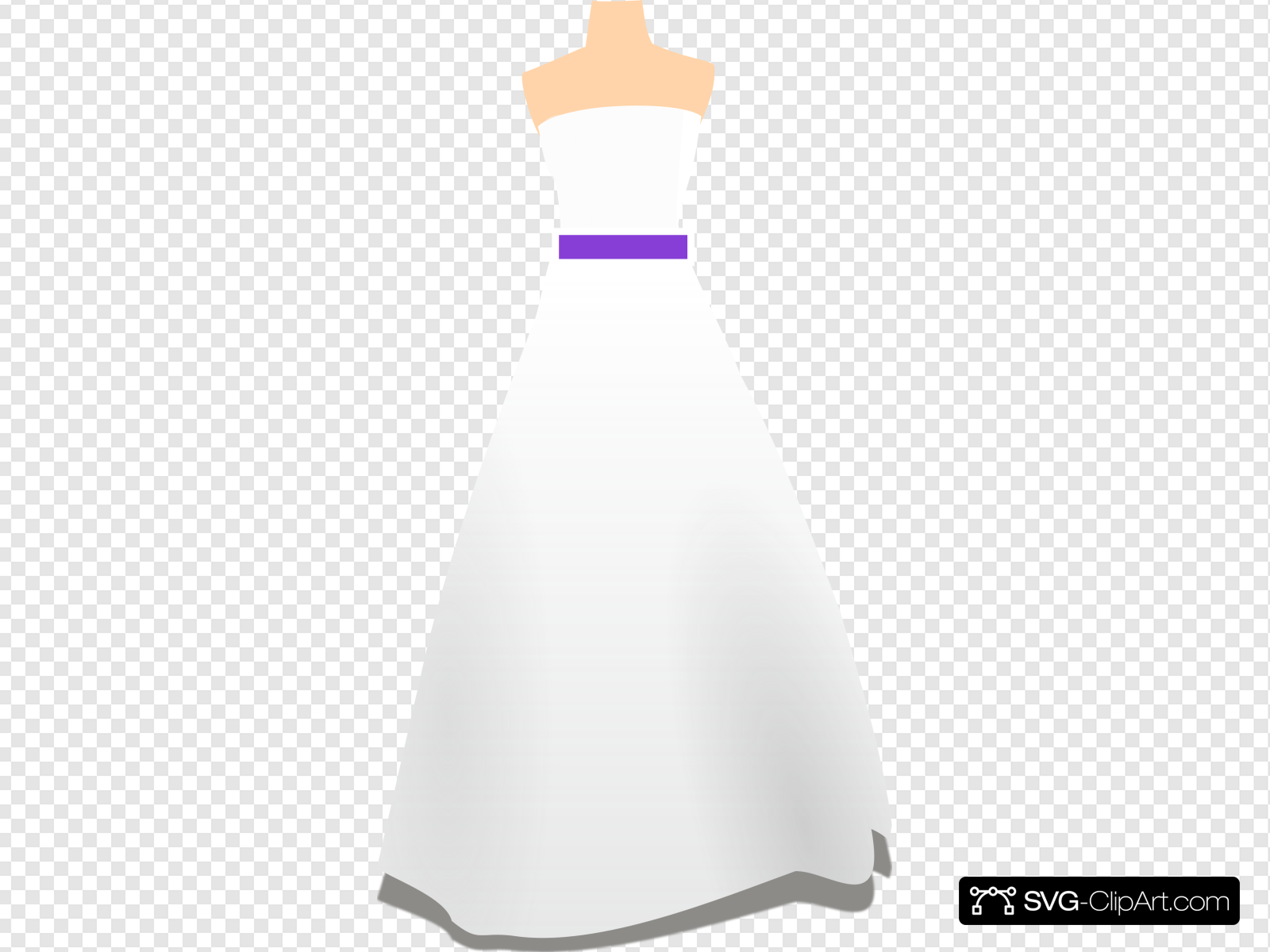 Simple Purple Wedding Dress Clip art, Icon and SVG.
