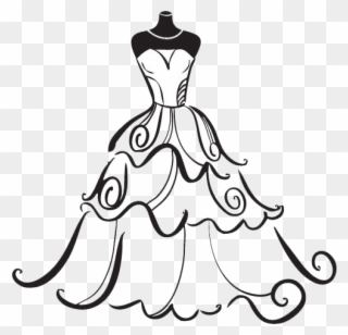Free PNG Wedding Dress Clip Art Download.