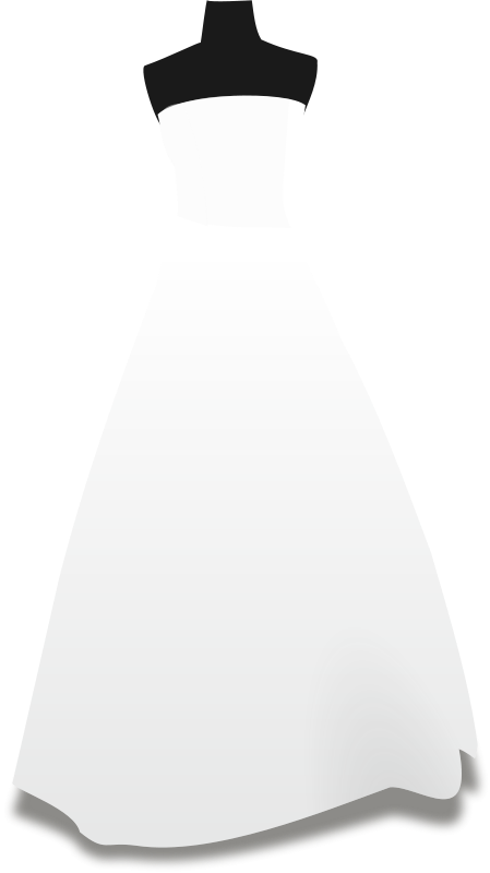 Free Clipart: Wedding dresses.