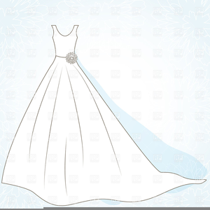 Wedding Dress On A Hanger Clipart.