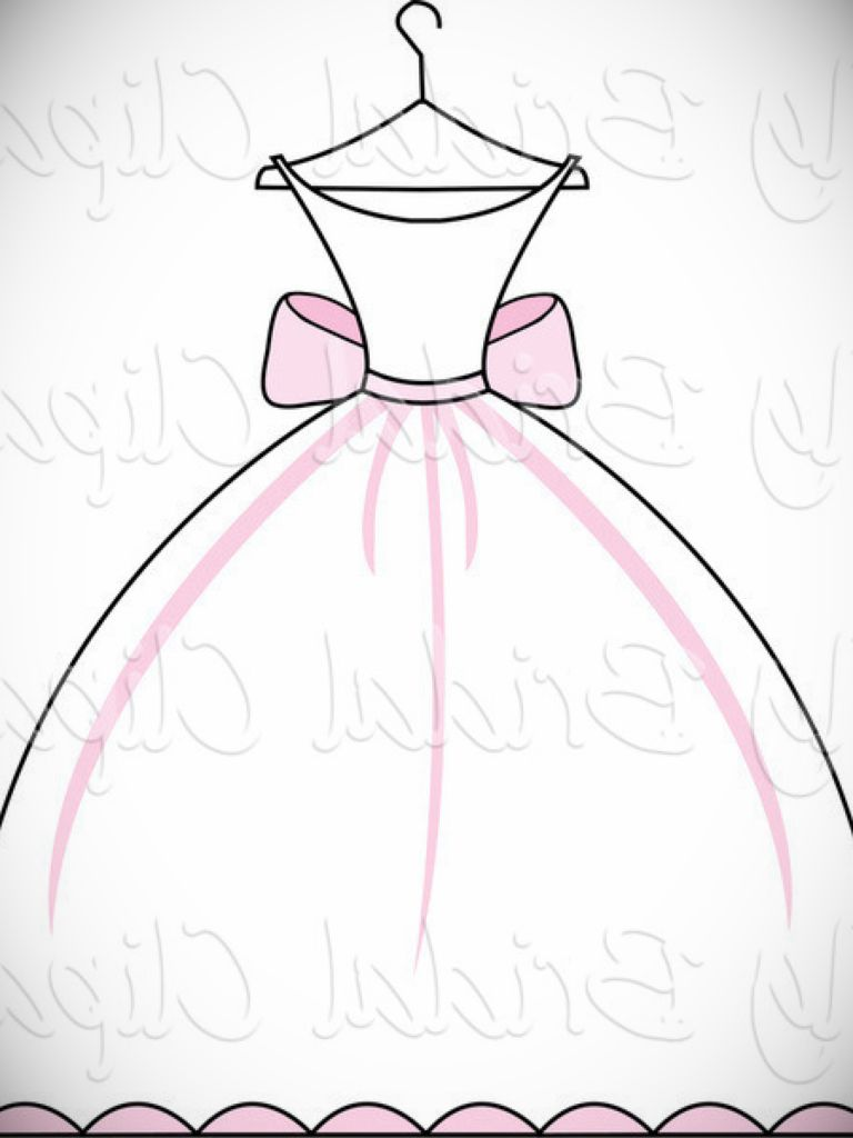 Wedding Dress On Hanger Clipart.