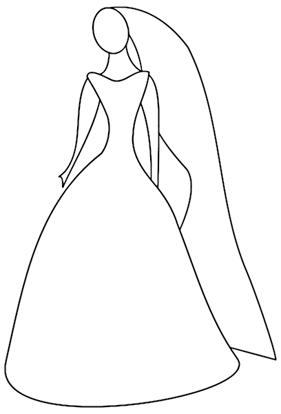 Wedding Dress Outline Png & Free Wedding Dress Outline.png.