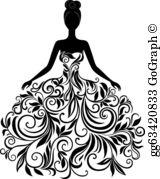 Wedding Dress Clip Art.