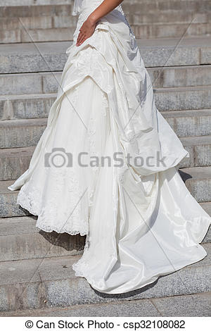 Pictures of Train of beautiful wedding dress..