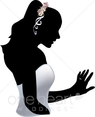 silhouette clipart of cultural dresses.