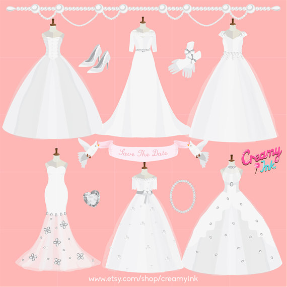 wedding gown clipart free - photo #35