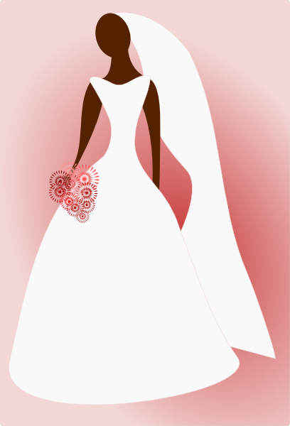 Bride In Wedding Dress Clip Art at Clker.com.