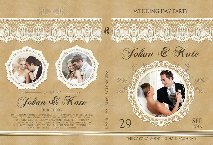 Wedding DVD Cover and DVD Label Template Vol.6.