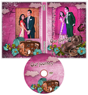 Wedding DVD Cover Template Psd Free Download.