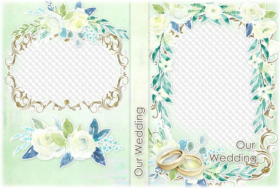 Our Wedding, Wedding DVD cover PSD, PNG. PSD file free.