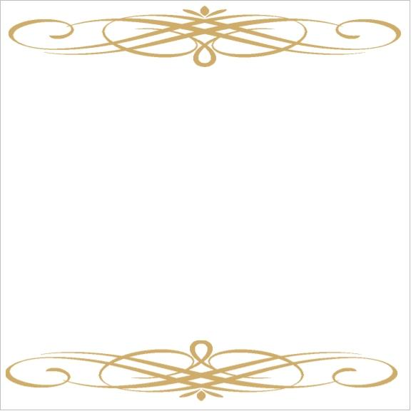 Gold Swirl Bridal Shower Anniversary or Wedding Favor Tags.