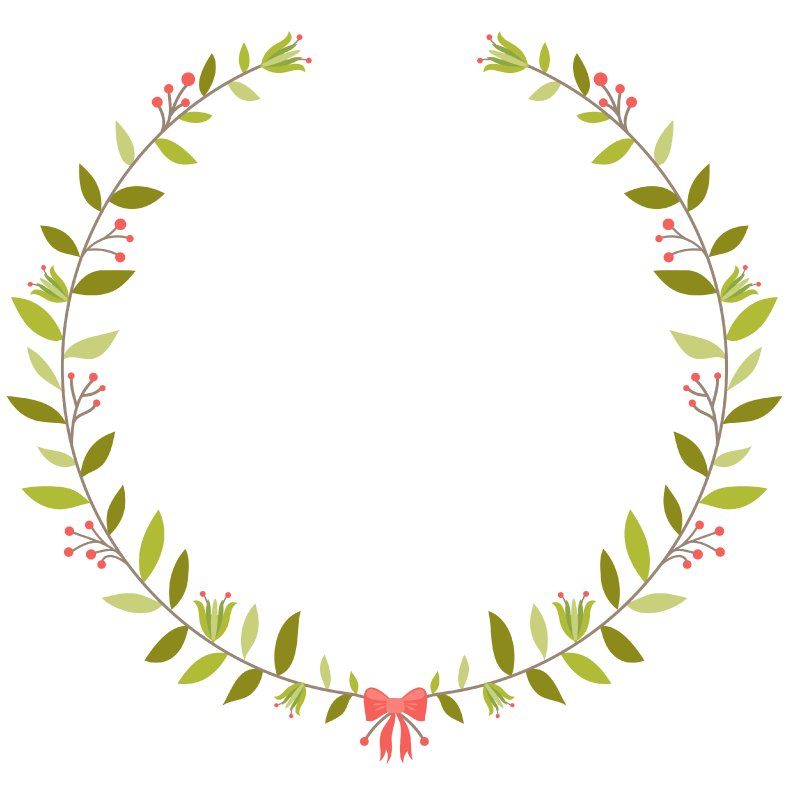Initial Spring Wreath Wedding Favors.