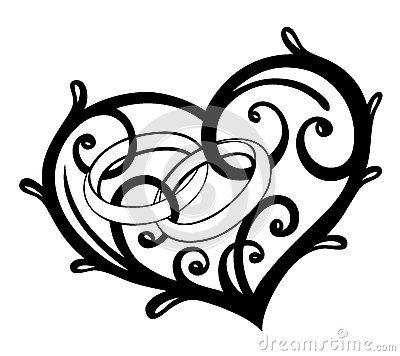 Heart, rings, wedding.