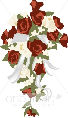 Wedding Flower Bouquet Clipart.