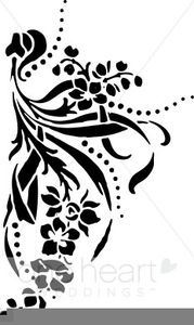 Wedding Invitation Flourish Clipart.