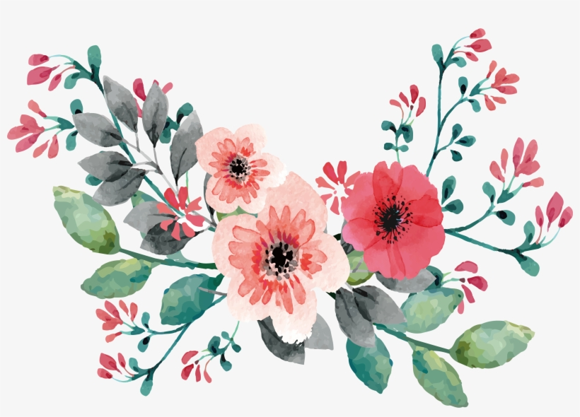 Png Free Download Wedding Invitation Flower Painting.