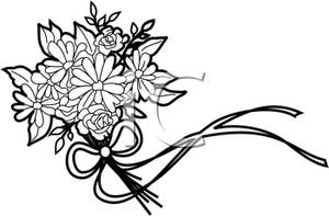 Wedding Flower Clipart Black And White Clipground