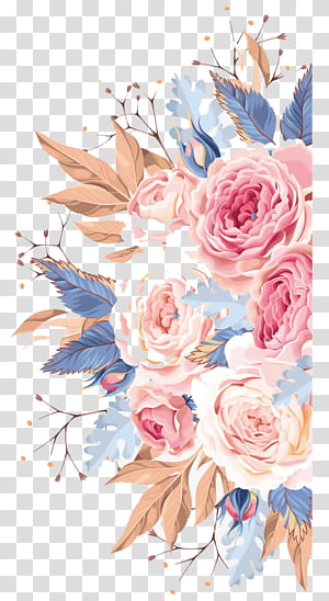 Watercolor Flower transparent background PNG cliparts free.