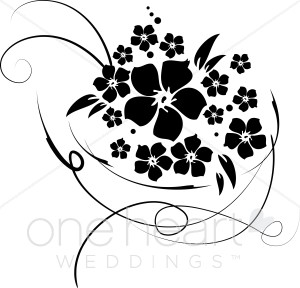 Wedding Flower Clipart Black And White.