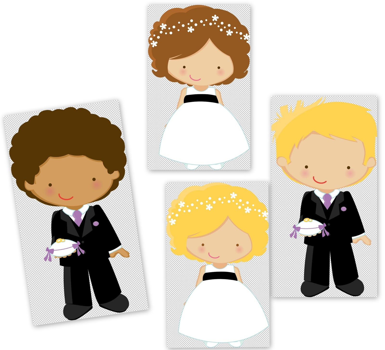 Flower Girl and Ring Bearer Clipart..
