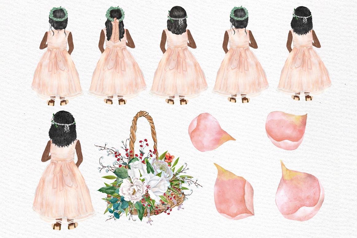 Flower girl clipart Wedding clipart.