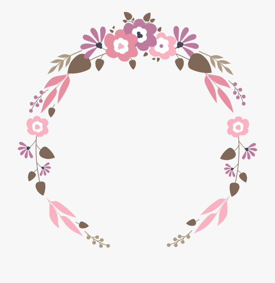 Floral Flat Vector Garland Wedding Download Hd Png.