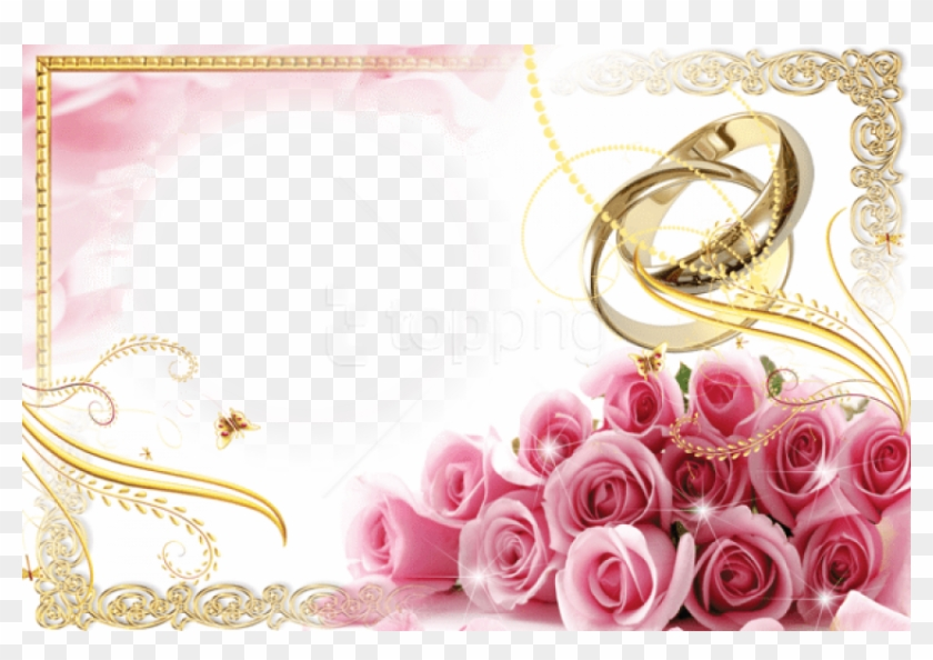 Best Stock Photos Transparent Wedding Frame With Rings.