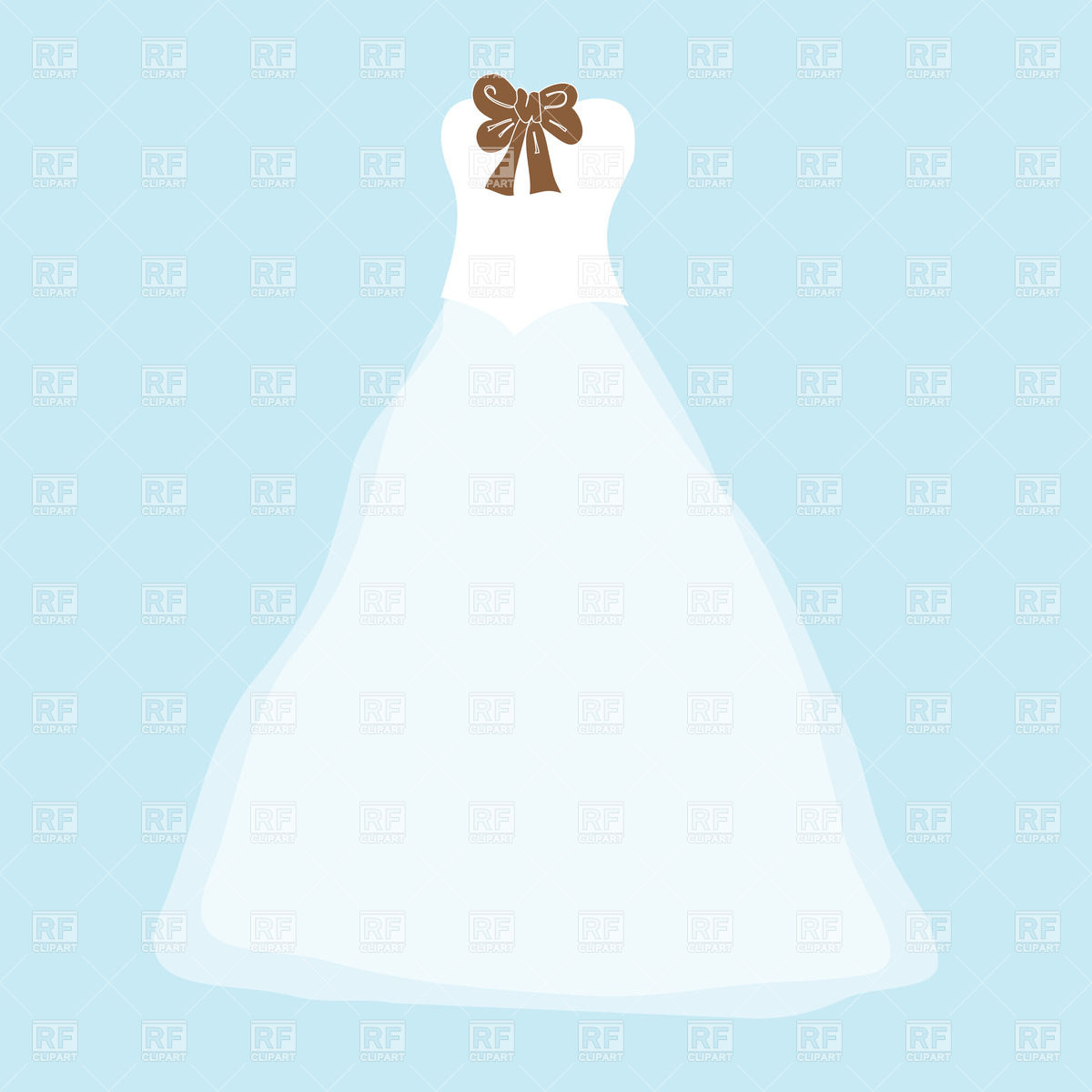 Dress With Bow Clipart.