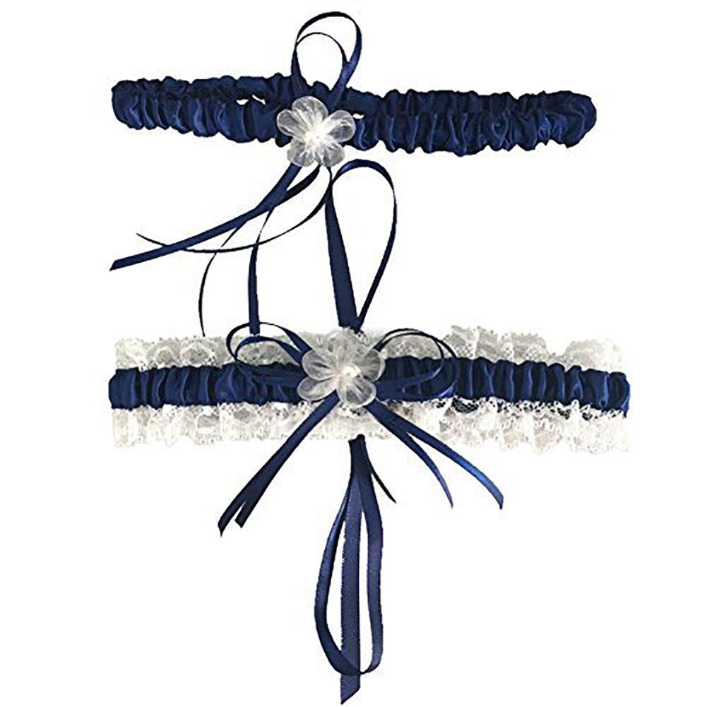 CQDY Bride Garter, Classic Series Lace Wedding Garter with Handmade Flower.
