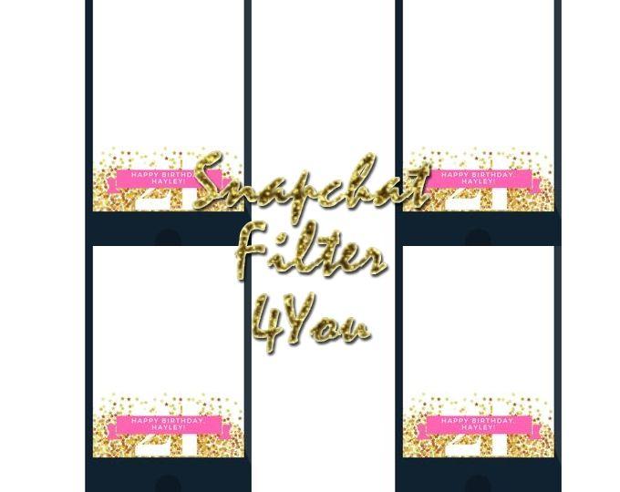 Birthday Snapchat Geofilter Glitter Birthday Snapchat Filter.