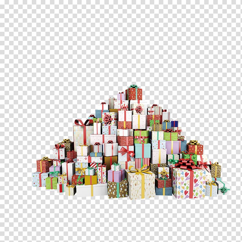 Poster Gift Icon, Gift pile material transparent background.