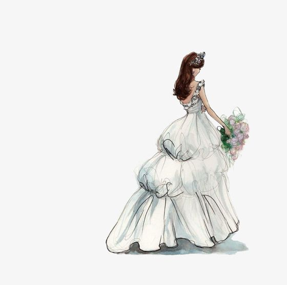 2019 的 The Bride Wore A Wedding Dress, Wedding Clipart.