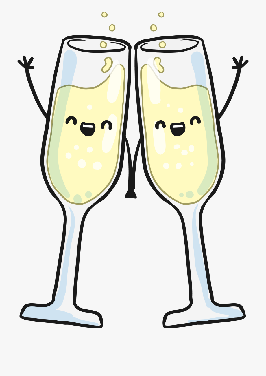 Hand Glass Wine In Champagne Glasses Clipart.