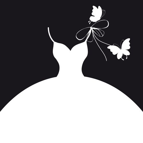 Wedding Gown Clip Art: Wedding Gown Clipart Silhouette