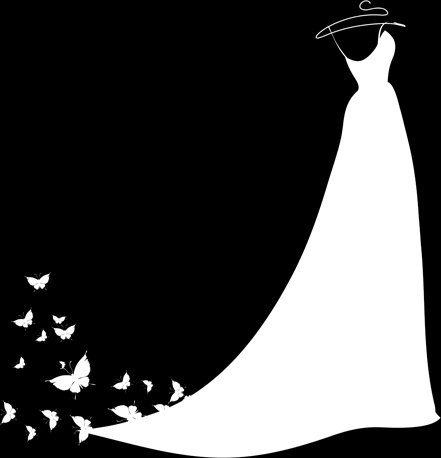wedding gown clipart silhouette - Clipground