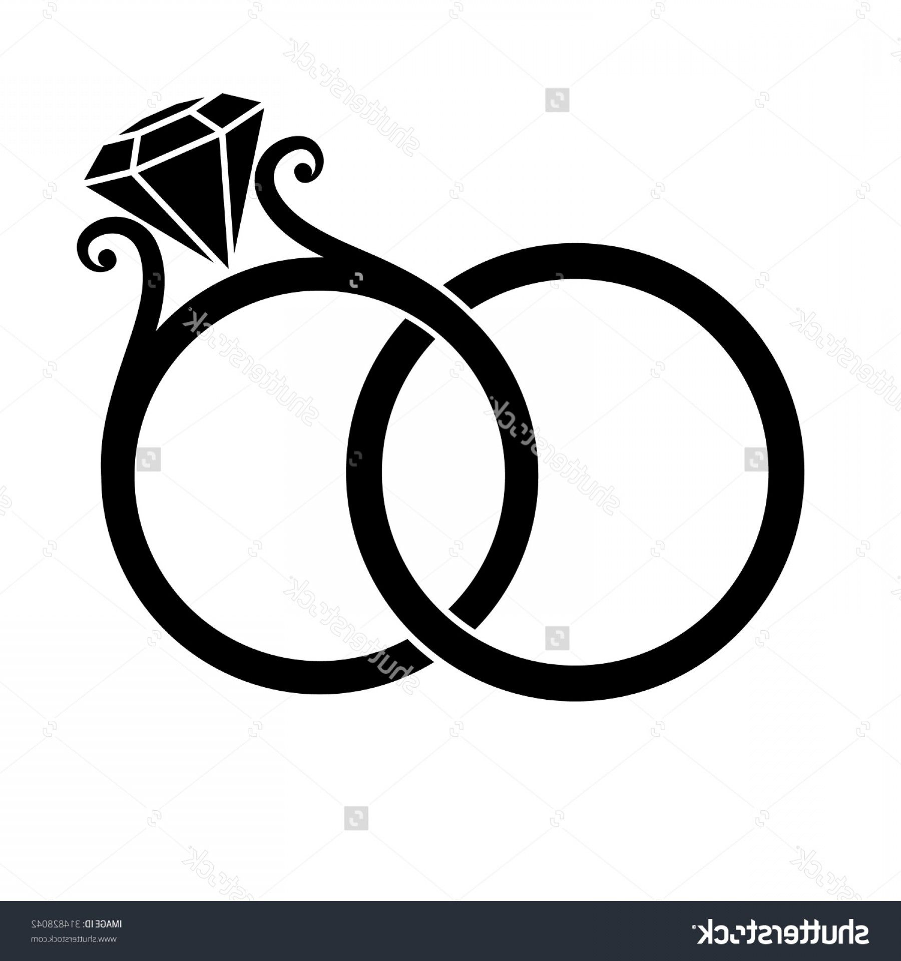Wedding Clip Art Vector Graphics: Bride And Groom Silhouette.