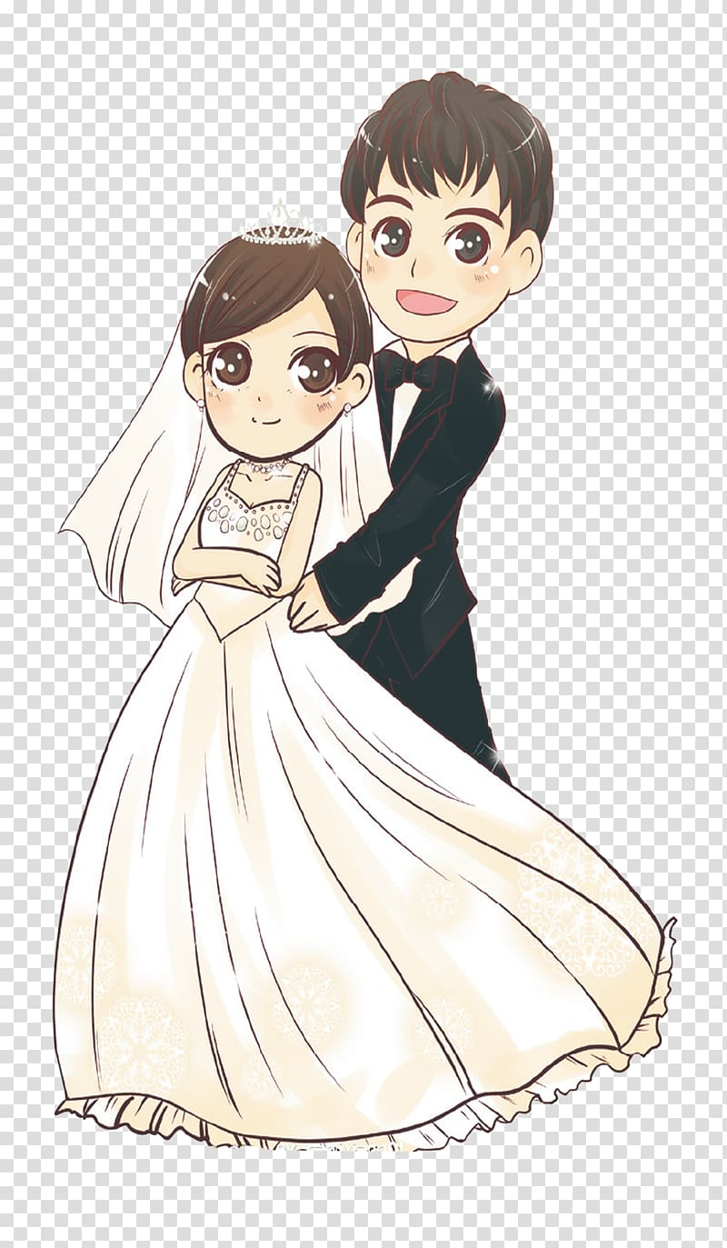 Bride and groom , Wedding invitation Bride Wedding dress.