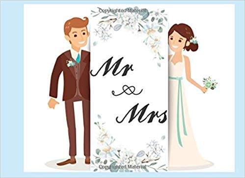 Mr & Mrs: Wedding Guest Book For 436 Persons Left Line For.