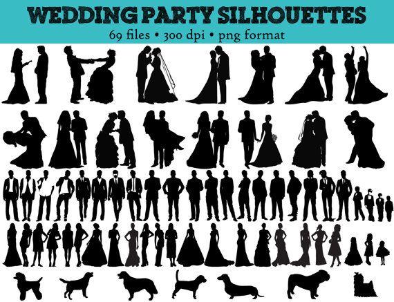 Bridal Party Clipart.