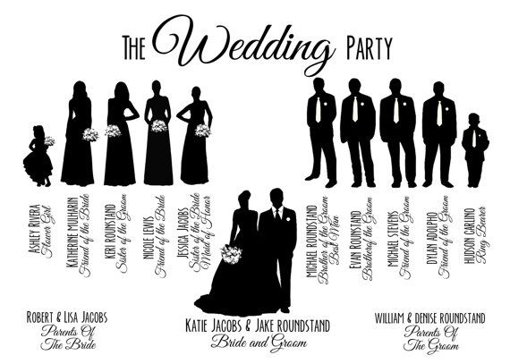 Wedding party clipart #4