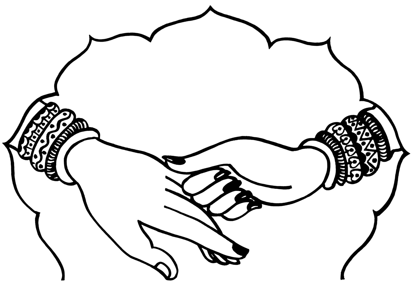 Indian wedding hands clipart 4 » Clipart Station.