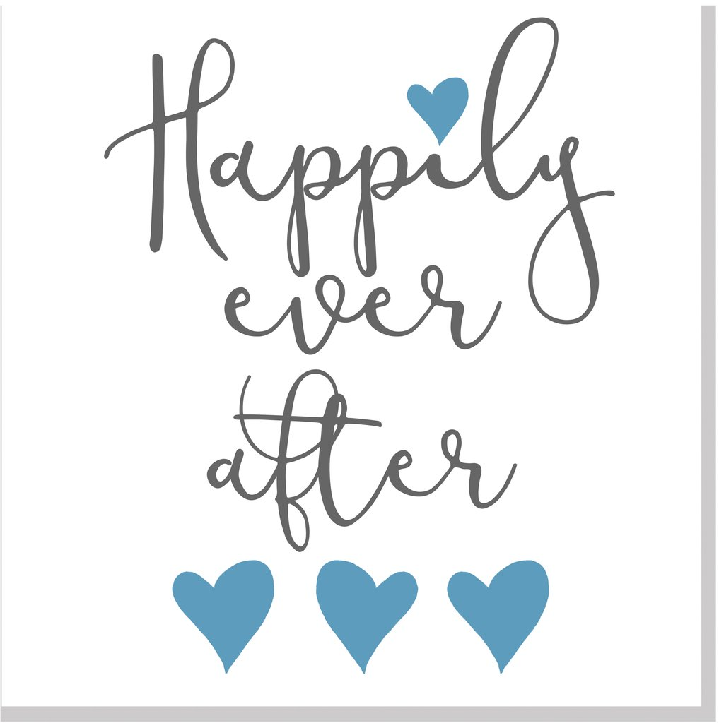 Wedding Happily Ever After Hearts square card.