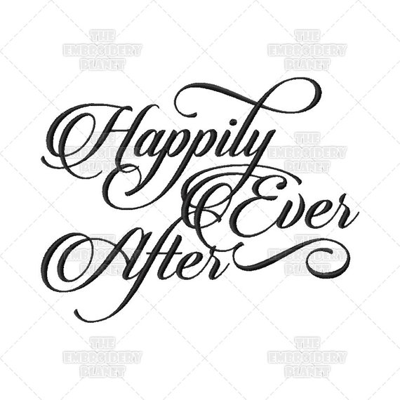 Happily Ever After, Calligraphy, Wedding, Script, Ring.