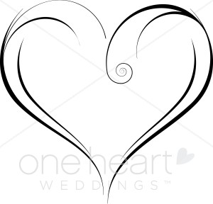Wedding Heart Clipart Free Gray.