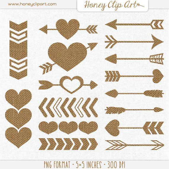 Burlap Wedding Heart Clipart Clipart Kid, Brown Wedding Clip Art.