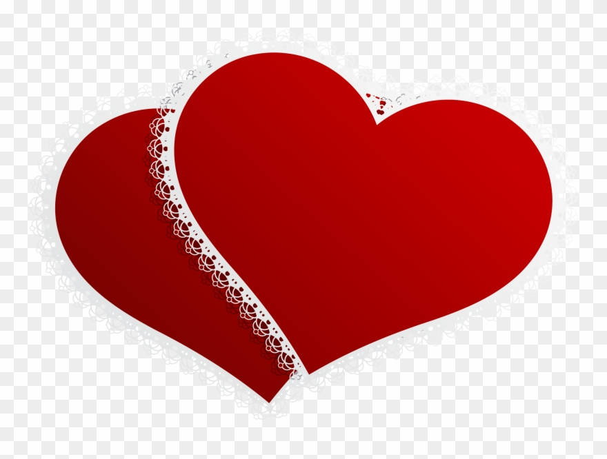 Valentine Double Hearts Decor Png Clipart Picture.