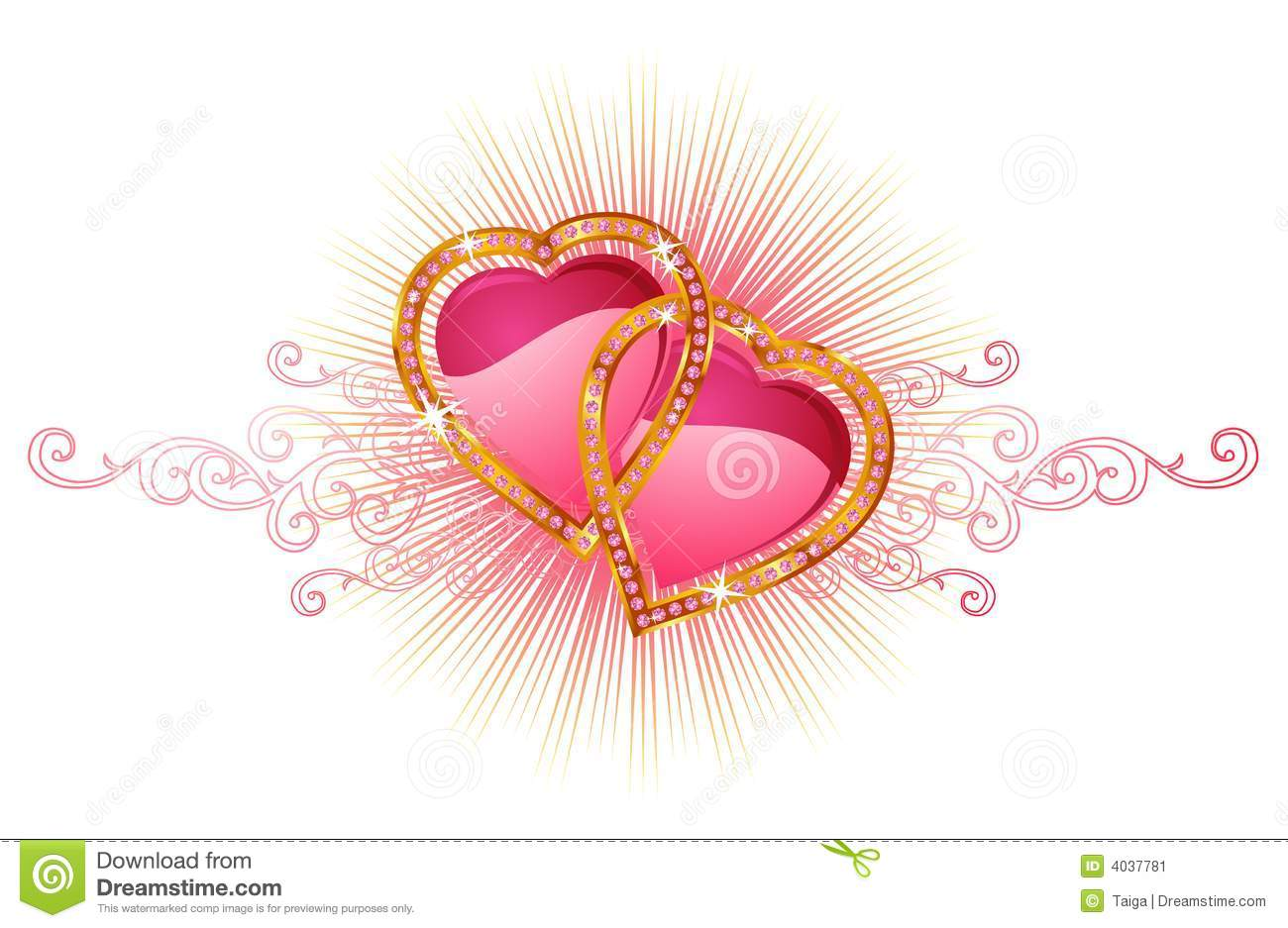 Wedding Heart Clipart Vector.